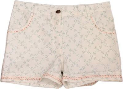 Nana Short For Girls Cotton Linen Blend, Nylon Blend, Cotton Linen Blend(White, Pack of 1)