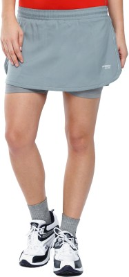 2GO Solid Women Grey Sports Shorts at flipkart