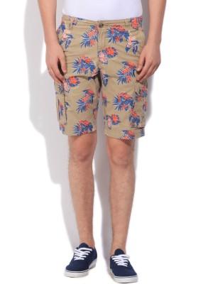 U.S. Polo Assn Printed Men's Beige Cargo Shorts