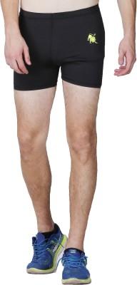 Lappel du vide Solid Men's Black Sports Shorts