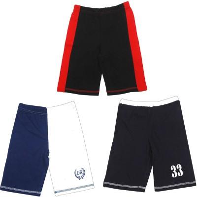 Gkidz Short For Boys Cotton(Multicolor, Pack of 3) at flipkart