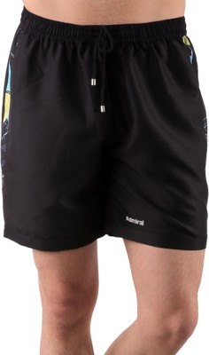 Admiral Solid Men's Black Sports Shorts