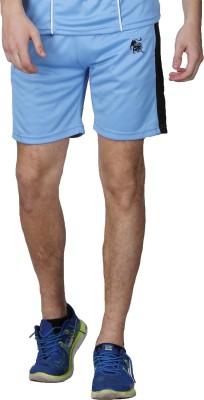 Lappel du vide Solid Men's Blue Sports Shorts