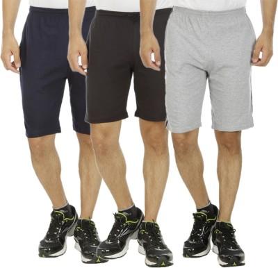 Kritika's World Solid Men's Multicolor Basic Shorts