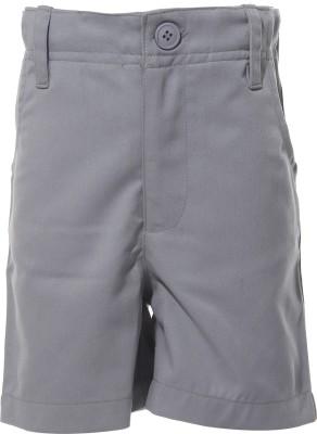 Babeez Short For Boys Cotton Linen Blend, Cotton Nylon Blend, Cotton Linen Blend(Grey)