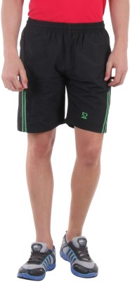 Sports 52 Wear Solid Men's Black, Green Sports Shorts  available at flipkart for Rs.445