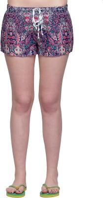 Oxolloxo Printed Women Multicolor Basic Shorts at flipkart