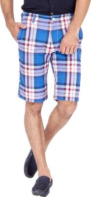 Urbantouch Checkered Men's Multicolor Basic Shorts