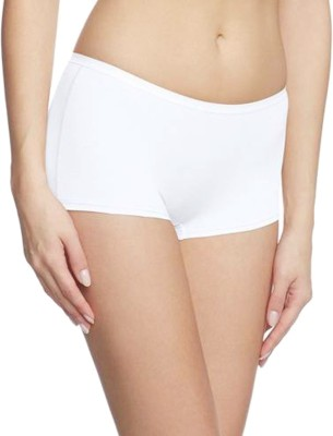 69GAL Solid Women White Compression Shorts