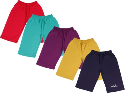 Provalley Short For Boys Cotton Blend Multicolor, Pack of 5