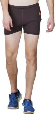 Lappel du vide Solid Men's Brown Sports Shorts