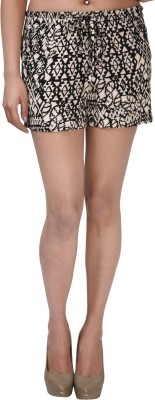 ShopperTree Printed Women Multicolor Basic Shorts at flipkart