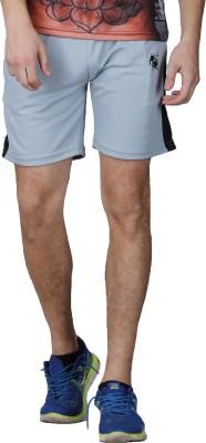 Lappel du vide Solid Men's Grey Sports Shorts
