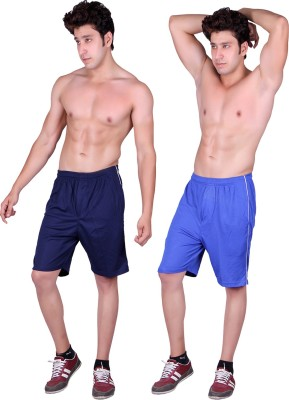 Gag Wear Solid Men's Dark Blue, Blue Sports Shorts