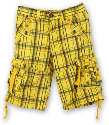 Lilliput Short For Boys Cotton Linen Blend, Cotton Nylon Blend, Cotton Linen Blend(Yellow, Pack of 1)