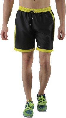 Admiral Solid Men's Yellow Sports Shorts