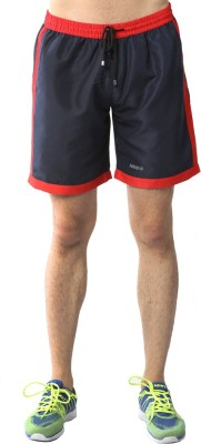 Admiral Solid Men's Red Sports Shorts