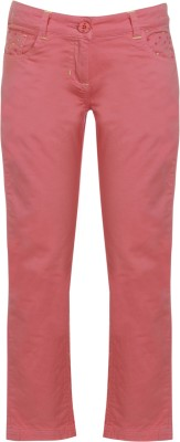 UFO Embroidered Women Red Basic Shorts at flipkart