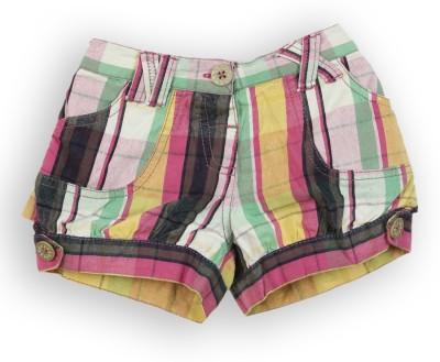 Lilliput Short For Girls Checkered Cotton Linen Blend, Cotton Nylon Blend, Cotton Linen Blend(Multicolor, Pack of 1)
