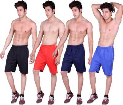 Gag Wear Solid Men's Red, Dark Blue, Blue, Black Sports Shorts