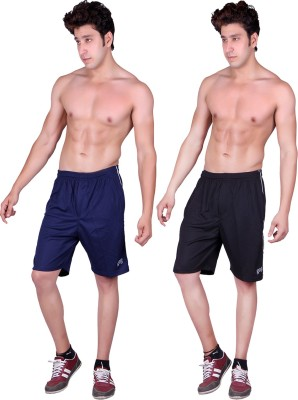 Gag Wear Solid Men's Dark Blue, Black Sports Shorts