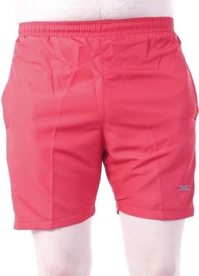 Zagros Solid Men's Red, White Sports Shorts, Gym Shorts