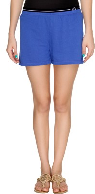 Karishma Solid Women Blue Basic Shorts