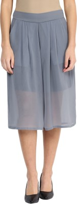 Miss Chase Solid Women Grey Culotte Shorts