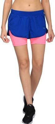 Puma Solid Women Blue Basic Shorts at flipkart