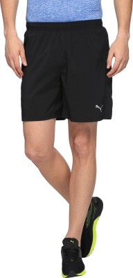 Puma Solid Men Black Basic Shorts