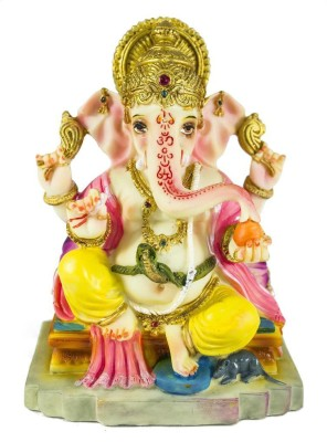 Gods & Gifts Lord Ganesha Showpiece  -  14 cm(Polyresin, Multicolor)  available at flipkart for Rs.375
