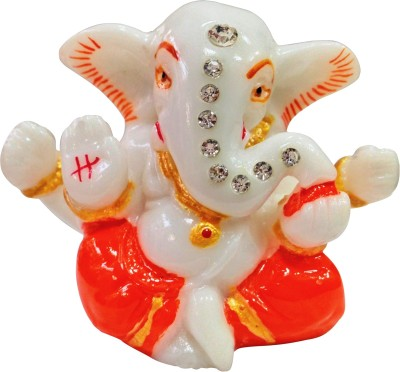 Bulb Centre Hindu God Idol Ganesh Marble Temple for Car Dashboard (Small) Showpiece  -  5 cm(Ceramic, Multicolor)  available at flipkart for Rs.323