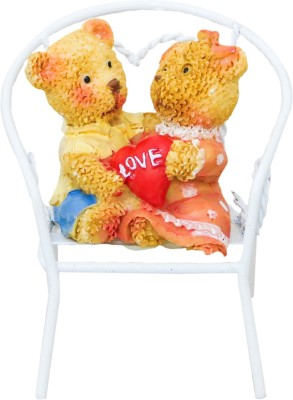 Gods & Gifts Teddy Bear Couple Chair Showpiece  -  4.5 cm(Polyresin, Multicolor)  available at flipkart for Rs.195