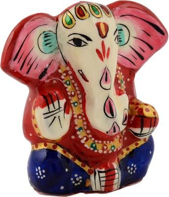 Rajrang Lord Ganesha Decorative Showpiece   5 cm Ceramic, Red