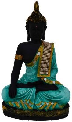 eCraftIndia Meditating Lord Buddha - Green Decorative Showpiece  -  27.94 cm(Polyresin, Green, White) at flipkart