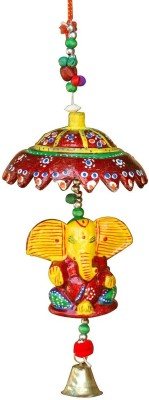 Shopper Space Lord Ganesha Door Hanging Decorative Showpiece  -  30 cm(Wooden, Multicolor)  available at flipkart for Rs.224