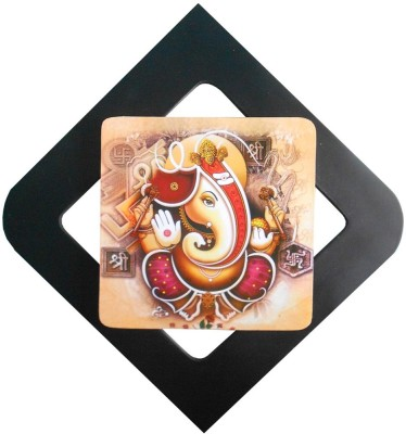 UT Handicraft ganesha wall hanging Showpiece  -  30 cm(Wooden, Red, Black)  available at flipkart for Rs.399