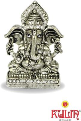 Kulin God Ganesh | Ganpati | Vighanharta | Lord Ganesha Idol For Car Dashboard | Home Décor | Gifting Decorative Showpiece  -  3 cm(Silver Plated, Silver)  available at flipkart for Rs.350
