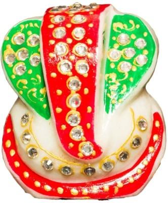 RM Ganesha Decorative showpiece  -  7 cm(Stoneware, White)  available at flipkart for Rs.105