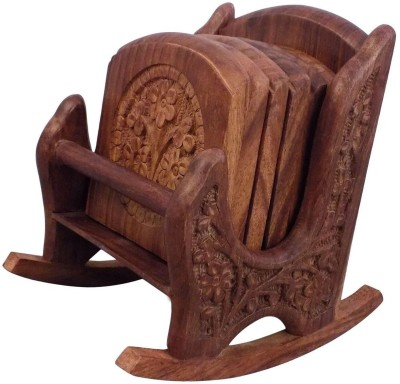 Craft Art India Beautiful Miniature Rocking Chair Shaped Tea Coaster - Table Top Accessories & Housewarming Gifts Showpiece  -  12 cm(Wooden, Brown)  available at flipkart for Rs.429