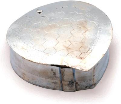 Little India Silver Polished Leaf Shape Stylish Puja Box 224 1 Piece Condiment Set(Brass) at flipkart