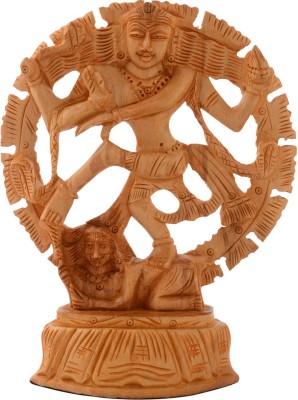 Rajrang Natraj Decorative Showpiece   13 cm Wood, Brown