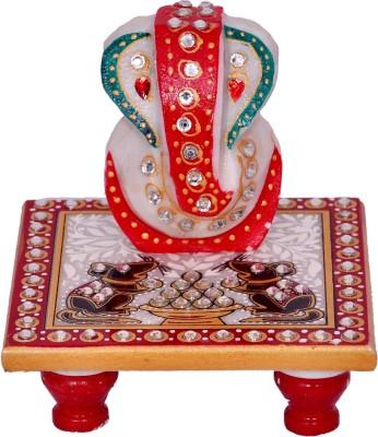 Vaah Meenakari Ganesh Rat Marble All Purpose Chowki(Multicolor, Pack of 2)  available at flipkart for Rs.159