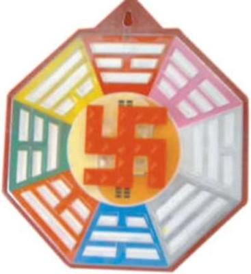 Acs Bagua Swastik showpiece  -  17 cm(Plastic, Multicolor)  available at flipkart for Rs.95