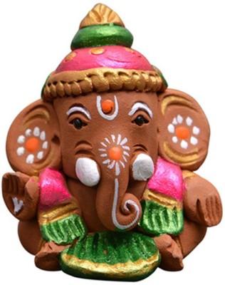 ExclusiveLane Terracotta Handpainted Baby Car Ganesha Showpiece  -  1.90 cm(Terracotta, Multicolor)  available at flipkart for Rs.590