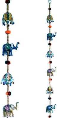 Jaipuri Art Rajasthani Elephant Door Hanging Handicraft Showpiece  -  5 cm(Paper Mache, Multicolor)  available at flipkart for Rs.215