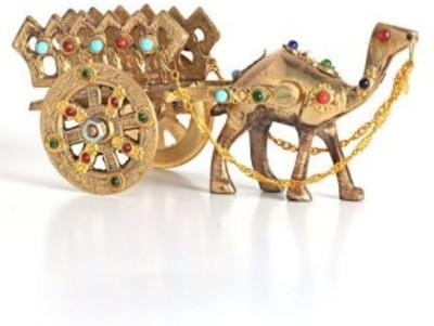 SB Enterprises Gemstone Studded Camel Decorative Showpiece  -  7 cm(Brass, Gold)
