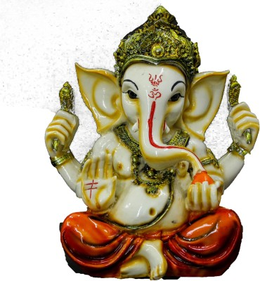 THE HOLY MART ROYAL GANESH Polyresin Home Temple(Height: 18 cm)
