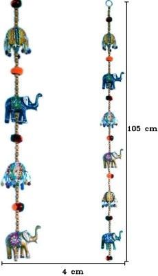 Traditional Rajasthan Rajasthani Elephant Door Hanging Handicraft Jaipuri Door Hanging Showpiece  -  105 cm(Paper Mache, Multicolor)  available at flipkart for Rs.168
