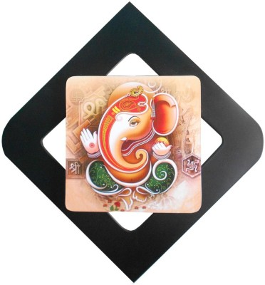 UT Handicraft ganesha wall hanging Showpiece  -  30 cm(Wooden, Red, Green, Black)  available at flipkart for Rs.399